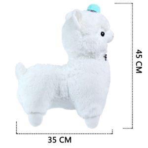 Grand Alpaca en peluche blanche