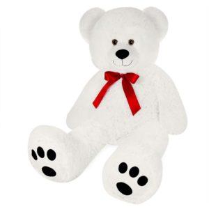 Nounours peluche ours géant XL Teddy Bear blanc