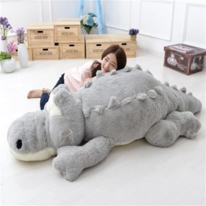Peluche Crocodile géant Alligator XXL gris
