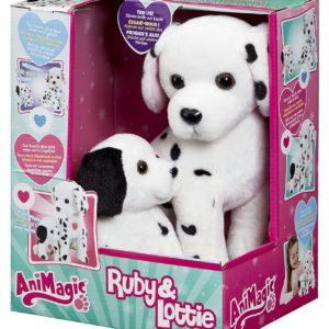 animagic dalmatien maman et bébé chien chiot