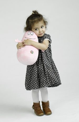 peluche rose barbapapa