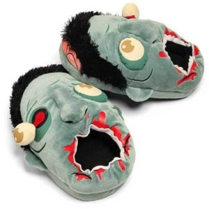 chaussons pantoufles peluche zombie