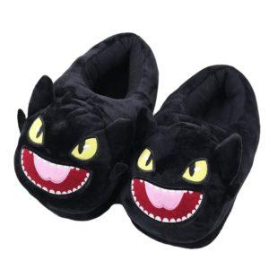 pantoufles peluches dragons dreamworks croquemou